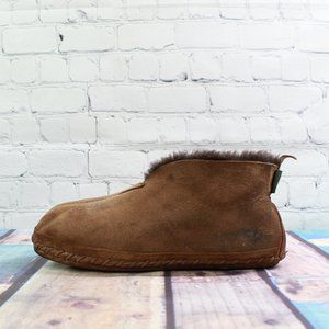 LL BEAN Shearling Wicked Good Suede Bootie Size 9M